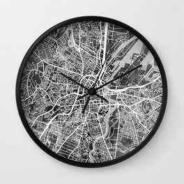 Belfast Northern Ireland City Map Wall Clock