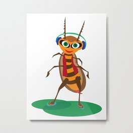 Happy Bug Metal Print