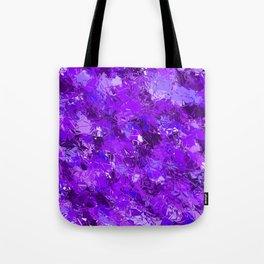Fractured Blue-Violet Texture Tote Bag