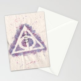 deathly hallows (in purple) Stationery Cards