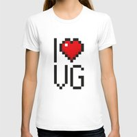 video games T-shirts featuring PAUSE – I Love Video Games by PAUSE