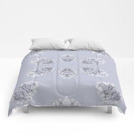 Silver Wildflowers Comforters