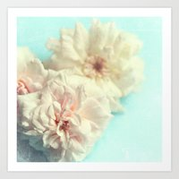blush Art Prints featuring blush by Sylvia Cook Photography