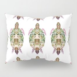 green mosaic turtle Pillow Sham