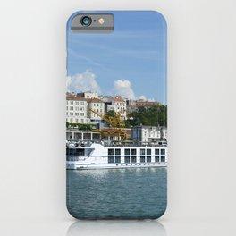 Photo Serbia Belgrade Danube Riverboat river Berth Houses Cities Pier Rivers Marinas Building iPhone Case