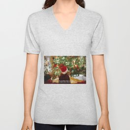 Maybe Christmas 2 #quotes #painting Unisex V-Neck