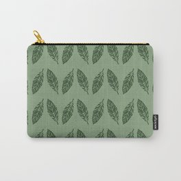 Tropical foliage Green #tropical #leaves #homedecor Carry-All Pouch