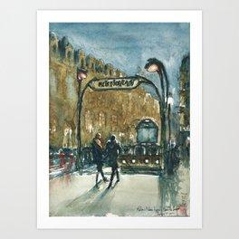 Metro Palais Royal - Musée du Louvre Art Print