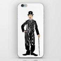 charlie chaplin iPhone & iPod Skins featuring Charlie Chaplin by Ayse Deniz