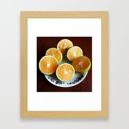 Oranges with some imperfection Framed Art Print