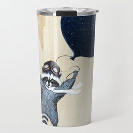 Raccoon Balloon Travel Mug