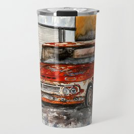 Old red pickup truck Travel Mug