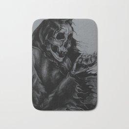 Skeleton Holding Diamond Bath Mat