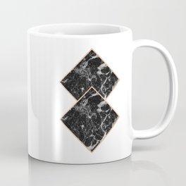 Diamond black marble - rose gold gilded Coffee Mug