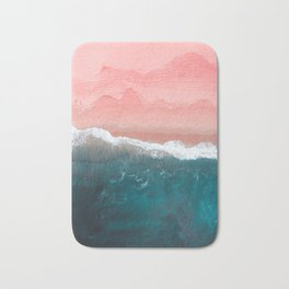 Turquoise Sea Pastel Beach II Bath Mat