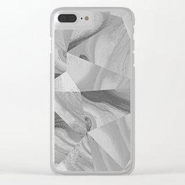 Irregular Marble II Clear iPhone Case