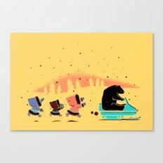 Grand Theft Arctic Canvas Print