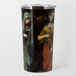 "Antonio Allegri da Correggio ""Saints Peter, Martha, Mary Magdalen, and Leonard"" Travel Mug"