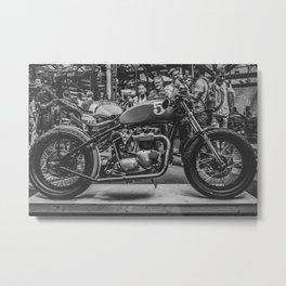 Bike shed London Metal Print