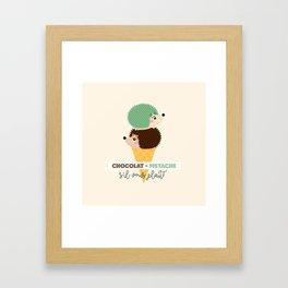 Chocolat-pistache Framed Art Print