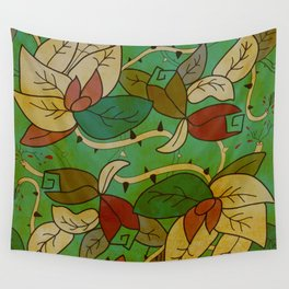 Floral, blood and thorn pattern Wall Tapestry