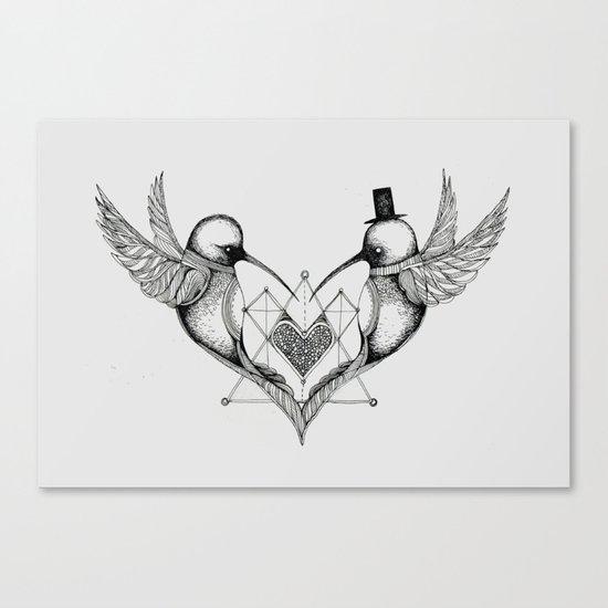 'Humming Birds' Canvas Print