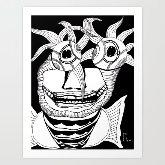 These Eyes Have Plants Coming Out Of Them Art Print