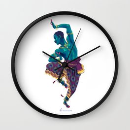 Bharatanatyam Dancer Wall Clock