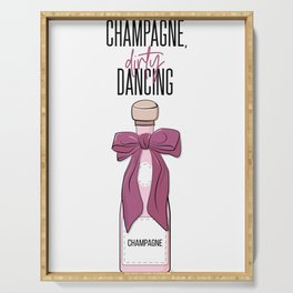 Champagne and dirty dancing Serving Tray