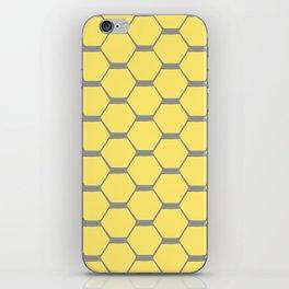 Grey and Yellow Hexagons iPhone Skin