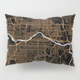 Calgary | Alberta | Canada - Minimalist City Map Pillow Sham