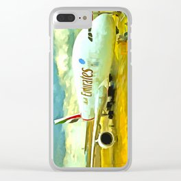 Emirates A380 Airbus Pop Art Clear iPhone Case
