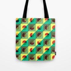 Mint circles & squares Tote Bag
