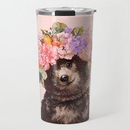 Baby Bear with Flowers Crown Travel Mug