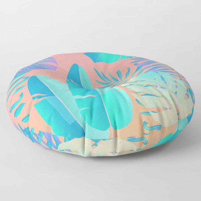 Tropics ( monstera and banana leaf pattern ) Floor Pillow
