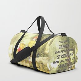 Christopher and Pooh Bear Duffle Bag