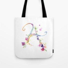 Letter A - Monogram Initial Tote Bag