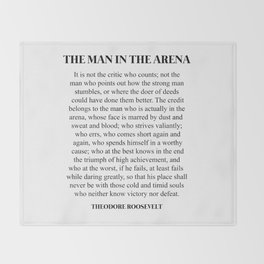 The Man In The Arena, Theodore Roosevelt, Daring Greatly Throw Blanket
