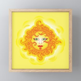 Abstract Sun G218 Framed Mini Art Print