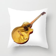 The guitar is a lady Throw Pillow