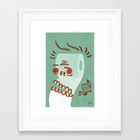 toilet Framed Art Prints featuring Toilet Paper by YONIL