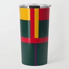 vintage, pattern, primary, colors, Travel Mug
