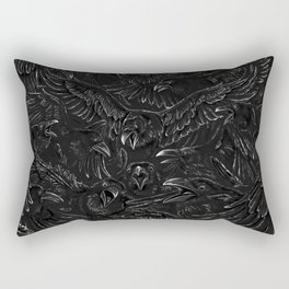 Raven Rage Rectangular Pillow