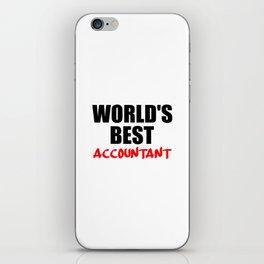 worlds best accountant iPhone Skin