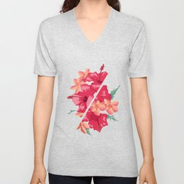 Flowers Out of Sync Unisex V-Neck