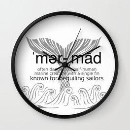 Mermaid Defined Wall Clock
