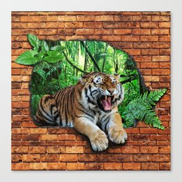 Tiger - Window To The Jungle Canvas Print