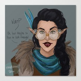 Vex in Percy's Glasses Canvas Print