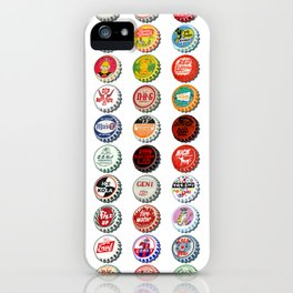Vintage Soda Pop Bottle Caps iPhone Case