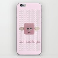 camouflage iPhone & iPod Skins featuring Camouflage by fabiotir